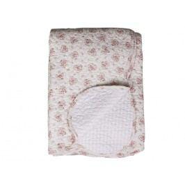 Chic Antique Prošívaný přehoz Roses 130x180, růžová barva, krémová barva, textil