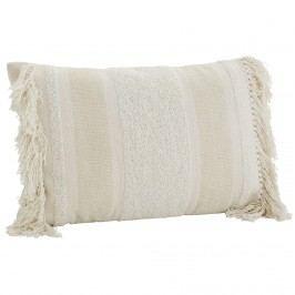 MADAM STOLTZ Povlak na polštář Chenille Off white 40x60 cm, krémová barva, textil