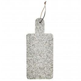 MADAM STOLTZ Žulové prkénko Granite 17,5x40 cm, šedá barva, kámen