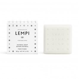 SKANDINAVISK Tuhé mýdlo LEMPI (láska) 100 g, bílá barva, papír