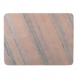 Bloomingville Kuchyňské mramorové prkénko Rose Marble, oranžová barva, mramor