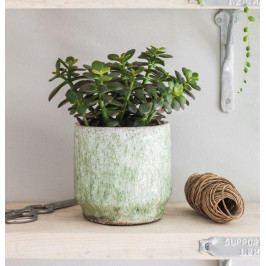 Garden Trading Obal na květináč Alderton Light Green, zelená barva, keramika 12cmx13cm