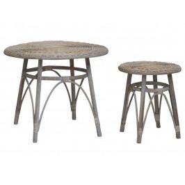 Chic Antique Proutěný stolek French Menší, přírodní barva, proutí