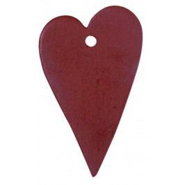 IB LAURSEN Dekorativní srdíčko - červené, červená barva, dřevo