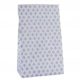 IB LAURSEN Papírový sáček Blue Flowers L, modrá barva, papír