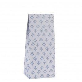 IB LAURSEN Papírový sáček Blue Flowers S, modrá barva, papír