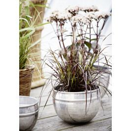MADAM STOLTZ Hliníkový obal na květináč Silver Velikost M, stříbrná barva, kov 23,5cmx16,5cm