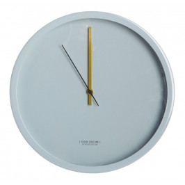 House Doctor Nástěnné hodiny Grey, šedá barva, kov