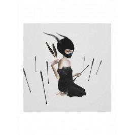 Ruben Ireland Grafický plakát Odi Et Amo 48x33cm, černá barva, bílá barva, papír