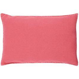 IB LAURSEN Lněný povlak na polštář Berry 60x40, růžová barva, textil