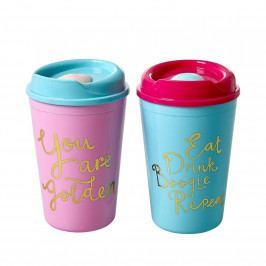 rice Termohrnek Pink/Blue Růžový, růžová barva, modrá barva, plast