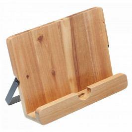 Kitchen Craft Dřevěný stojan na kuchařku Acacia, hnědá barva, přírodní barva, dřevo