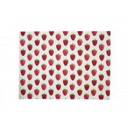 Krasilnikoff Bavlněné prostírání Strawberry, růžová barva, textil