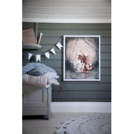 MRS. MIGHETTO Plakát MISS LAURA 40x50cm - Limited edition, šedá barva, papír