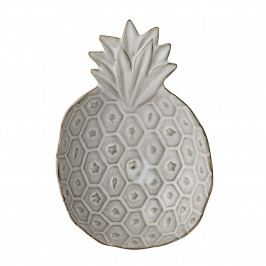 Bloomingville Mini tácek Pineapple, bílá barva, keramika