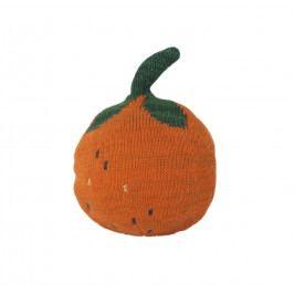 ferm LIVING Hračka s rolničkou Frutikana Orange Roly Poly, oranžová barva, textil