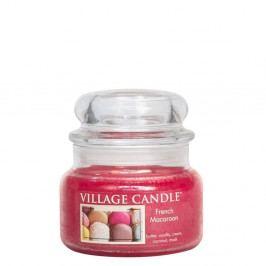 VILLAGE CANDLE Svíčka ve skle French Macaroon - malá, růžová barva, sklo, vosk