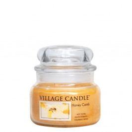 VILLAGE CANDLE Svíčka ve skle Honey Comb - malá, žlutá barva, sklo, vosk