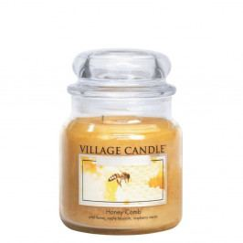 VILLAGE CANDLE Svíčka ve skle Honey Comb - střední, žlutá barva, sklo, vosk