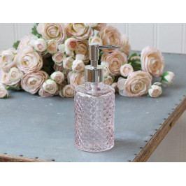 Chic Antique Zásobník na mýdlo Powder, růžová barva, sklo, plast