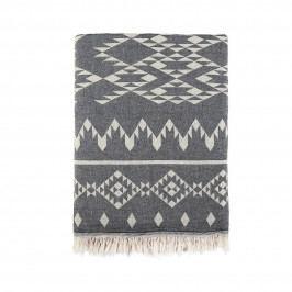 TAFELGUT Bavlněný přehoz Black, černá barva, bílá barva, textil