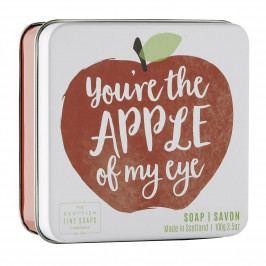 SCOTTISH FINE SOAPS Mýdlo v plechové krabičce Apple, červená barva, kov