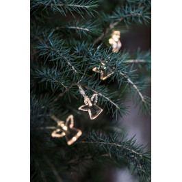 IB LAURSEN Světelný řetěz s andělíčky, čirá barva, plast