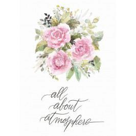Bella Rose Plakát Bella Rose - All About Atmosphere (limitovaná edice), růžová barva, bílá barva, multi barva, papír