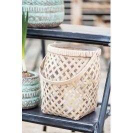 IB LAURSEN Bambusová lucerna s uchem Bamboo Menší, přírodní barva, dřevo