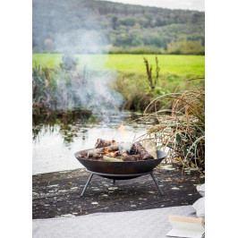 Garden Trading Litinové zahradní ohniště Idbury, černá barva, litina
