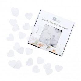 Talking Tables Svatební konfety Romance, bílá barva, papír