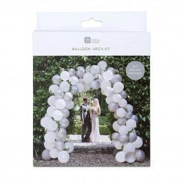 Talking Tables Sada pro balonkovou girlandu Romance, bílá barva, stříbrná barva, plast