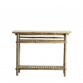 Tine K Home Bambusový konzolový stolek Vietnam, béžová barva, dřevo