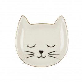 sass & belle Mini talířek na šperky Cat Whiskers, černá barva, bílá barva, keramika