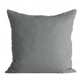 Tine K Home Lněný povlak na polštář Ash 50x50cm, šedá barva, textil