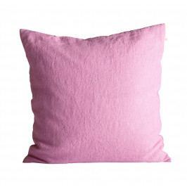 Tine K Home Lněný povlak na polštář Pink 50x50cm, růžová barva, textil