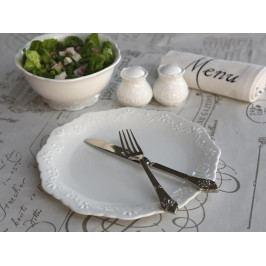 Chic Antique Porcelánový talíř Provence, krémová barva, porcelán