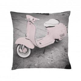 Bloomingville Bavlněný polštář Nude Vespa, růžová barva, šedá barva, textil