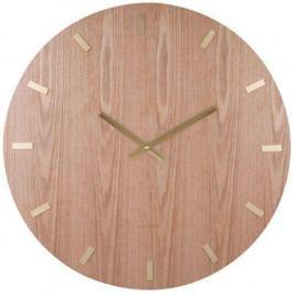 Karlsson Nástěnné hodiny Wood XL, hnědá barva, dřevotříska