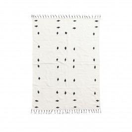 House Doctor Koberec Backside 200x140, černá barva, bílá barva, textil