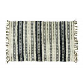 MADAM STOLTZ Jutový koberec Off white 120x180, béžová barva, černá barva, krémová barva, textil