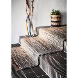 MADAM STOLTZ Koberec Grey Jute 70x200, šedá barva, krémová barva, textil