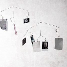 MONOGRAPH Závěsný držák na fotky Mobile, stříbrná barva, kov