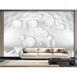 Murando DeLuxe 3D fototapeta na stěnu - bílý volnoprostor 150x105 cm