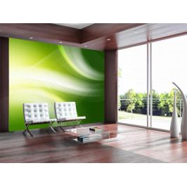 Murando DeLuxe Zelená abstrakce 150x116 cm