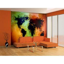 Murando DeLuxe Černé kontinenty 150x116 cm