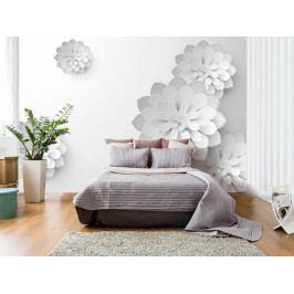 Murando DeLuxe 3D tapeta - Bílá zahrada 150x105 cm