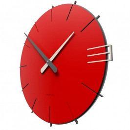 Designové hodiny 10-019 CalleaDesign Mike 42cm bílá-1 - RAL9003