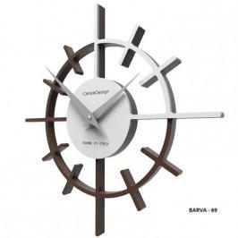 Designové hodiny 10-018 CalleaDesign Crosshair 29cm bílá-1 - RAL9003