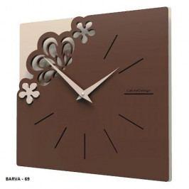 Designové hodiny 56-10-1 CalleaDesign Merletto Small 30cm bílá-1 - RAL9003